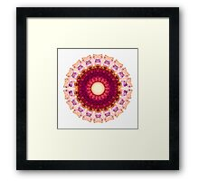Kindness Mandala Art by Sharon Cummings Framed Print