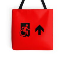 Accessible Means of Egress Icon Emergency Exit Sign, Right Hand Up Arrow Tote Bag