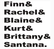 Glee Main Characters T-Shirt by hudsonsberry