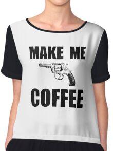 Make Me Coffee Chiffon Top