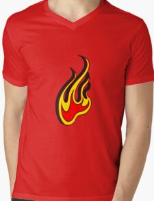 Feuer flamme 3D  Mens V-Neck T-Shirt