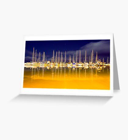 Marina Lights Greeting Card