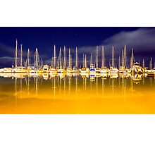 Marina Lights Photographic Print