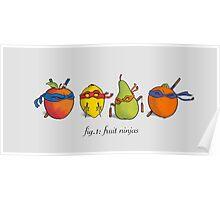 Fruit Ninja Turtles Poster