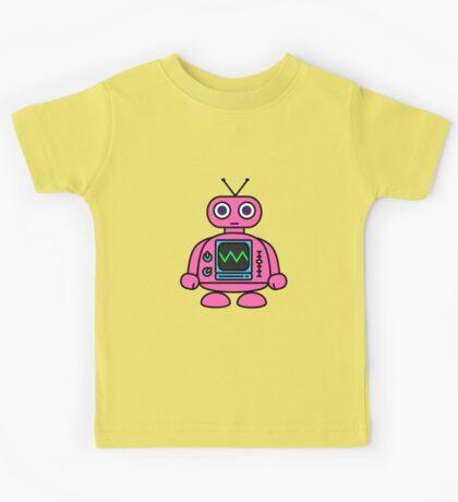 Pink Robot Kids Tee
