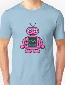 Pink Robot Unisex T-Shirt