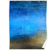 Acrylic Abstract Painting Modern Wall Art PACIFIC SHORE Artist Holly Anderson Poster