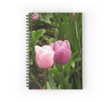 Tulips in love Spiral Notebook