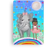 Raindrop The Elephant & The Ballerina Canvas Print