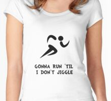 Run Don't Jiggle Women's Fitted Scoop T-Shirt