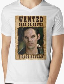 Buffy Xander Wanted Vampire Mens V-Neck T-Shirt