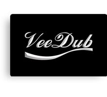 VeeDub - white print Canvas Print