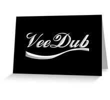 VeeDub - white print Greeting Card