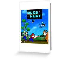 Mario and Luigi : Duck Hunt Greeting Card