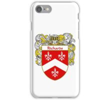 Richards Coat of Arms / Richards Family Crest iPhone Case/Skin