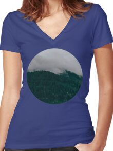 Pacific Northwest Lake Women's Fitted V-Neck T-Shirt
