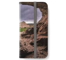 Sandstone Cave in Stormy Weather - Moab - Utah iPhone Wallet/Case/Skin