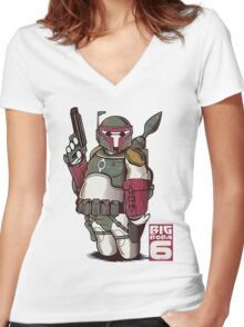 Baymax Women's Fitted V-Neck T-Shirt
