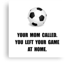Soccer Game At Home Canvas Print