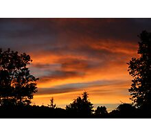 Firey Sunset Photographic Print