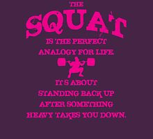 Squat Analogy (Strong Girl) Womens Fitted T-Shirt