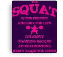 Squat Analogy (Strong Girl) Canvas Print