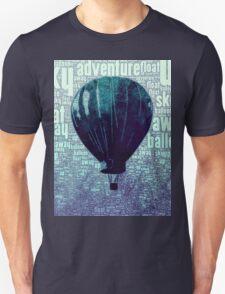 Blue Hot Air Balloon Design Unisex T-Shirt