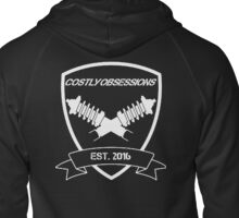 Costly Obsessions Badge Zipped Hoodie