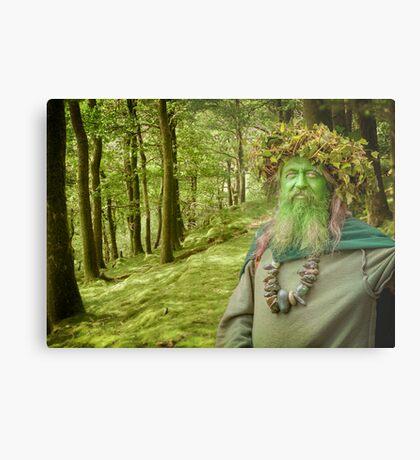 Green Man Of The Woods Metal Print