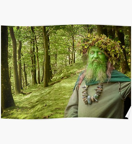 Green Man Of The Woods Poster