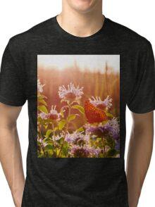 Sunset at the Butterfly Garden Tri-blend T-Shirt