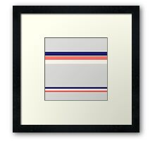 Beautiful Blue and Peach Eco design Collection Framed Print