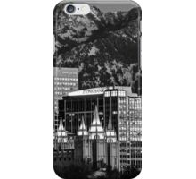 Salt Lake City Downtown Winter Skyline - Black And White iPhone Case/Skin