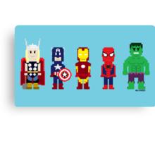 8-Bit Super Heroes! Canvas Print
