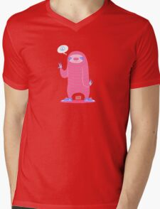 Peace Love Sloths Mens V-Neck T-Shirt