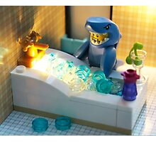 Happy bath Photographic Print