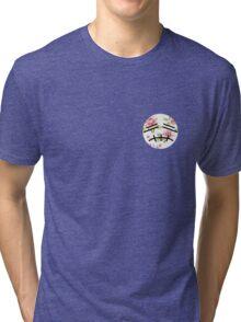 Floral Smash Bros Stitch Face  Tri-blend T-Shirt