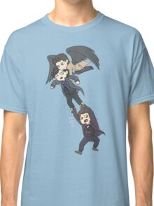 The angel, the sociopath and the timelord Classic T-Shirt