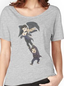 The angel, the sociopath and the timelord Women's Relaxed Fit T-Shirt