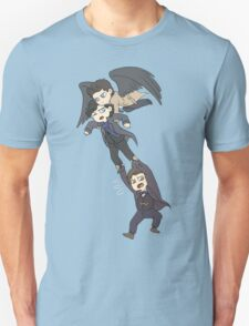 The angel, the sociopath and the timelord Unisex T-Shirt