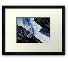 Boston Architecture and Sky Framed Print
