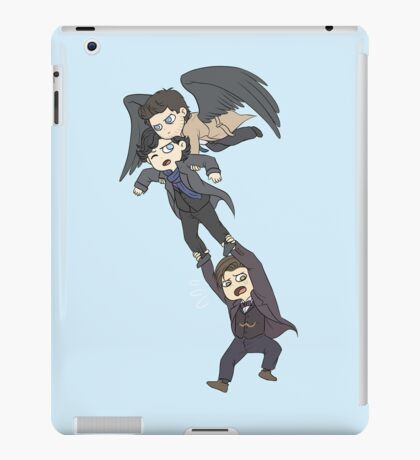 The angel, the sociopath and the timelord iPad Case/Skin