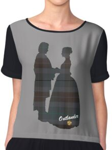 Outlander Wedding Silhouettes Chiffon Top