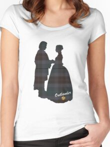 Outlander Wedding Silhouettes Women's Fitted Scoop T-Shirt