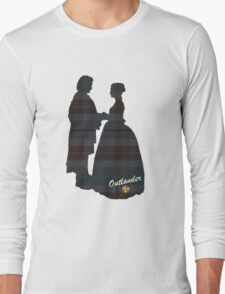 Outlander Wedding Silhouettes Long Sleeve T-Shirt