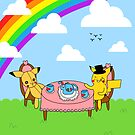 pikachu tea party by hellohappy