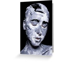 Black and white expressive portrait painting Greeting Card