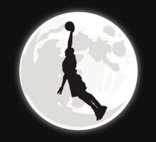 Basketball Dunk Moon by kwg2200