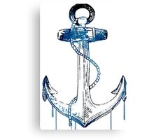 Watercolor Anchor Design Canvas Print
