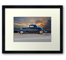 1934 Ford 3-Window Coupe 'Daddy's Heartache' Framed Print